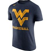 Nike Men's West Virginia Mountaineers Blue Basketball Tri-Blend T-Shirt