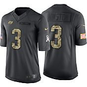 Nike Men's Home Limited Jersey Tampa Bay Buccaneers Jameis Winston #3 Salute to Service 2016