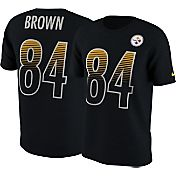 Nike Men's Pittsburgh Steelers Antonio Brown #84 Modern Black T-Shirt