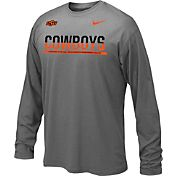 Nike Youth Oklahoma State Cowboys Anthracite Staff Sideline Long Sleeve Shirt