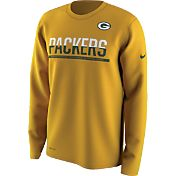 Nike Youth Green Bay Packers Team Practice Gold Long Sleeve Shirt