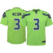 Nike Youth Color Rush 2016 Game Jersey Seattle Seahawks Russell Wilson #3