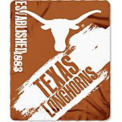 Northwest Texas Longhorns Painted Fleece Throw
