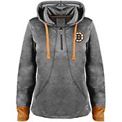 Old Time Hockey Women's Boston Bruins Annabelle Black Quarter-Zip Hoodie