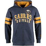 Old Time Hockey Youth Buffalo Sabres Felix Navy Full-Zip Hoodie