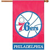 Party Animal Philadelphia 76ers Applique Banner Flag