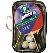 Prince 4-Player Game Room Table Tennis Racket Set With Storage Bag