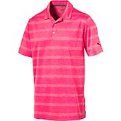 PUMA Men's Pounce Stripe Golf Polo