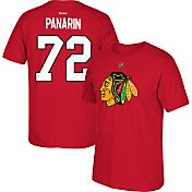 Reebok Men's Chicago Blackhawks Artemi Panarin #72 Replica Red Player T-Shirt