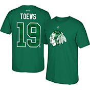 Reebok Men's Chicago Blackhawks Jonathan Toews #19 Green St. Patrick's Day Player T-Shirt