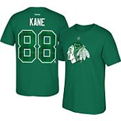 Reebok Men's Chicago Blackhawks Patrick Kane #88 Green St. Patrick's Day Player T-Shirt