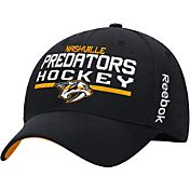 Reebok Men's Nashville Predators Center Ice Locker Room Black Structured Flex Hat