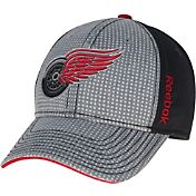 Reebok Men's Detroit Red Wings Center Ice Two-Tone Grey/Black Structured Flex Hat