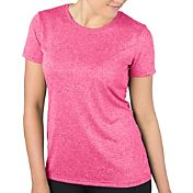 Reebok Women's Plus Size Heathered Crewneck Vector T-Shirt