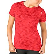 Reebok Women's Plus Size Space Dye Crewneck Vector T-Shirt