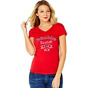 Soft As A Grape Women's Cleveland Indians Red V-Neck T-Shirt