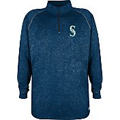 Stitches Men's Seattle Mariners Navy Quarter-Zip Pullover Fleece