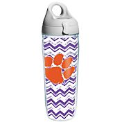Tervis Clemson Tigers Clear Chevron 24oz Water Bottle