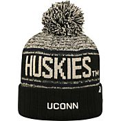 Top of the World Men's UConn Huskies White/Blue Acid Rain Knit Beanie