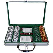 Trademark Poker 1,000 Tri Color Suited Chip Poker Set and Case