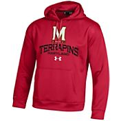 Under Armour Men's Maryland Terrapins Armour Fleece Red Hoodie
