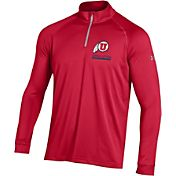 Under Armour Men's Utah Utes Crimson UA Tech Quarter-Zip Shirt