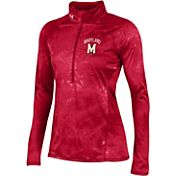 Under Armour Women's Maryland Terrapins Red Fusion UA Tech Half-Zip Shirt