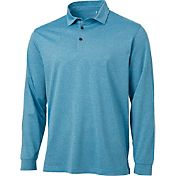 Walter Hagen Men's Essentials Long Sleeve Stripe Golf Polo