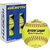 Worth 12' Official League Slow Pitch Softballs - 6 Pack