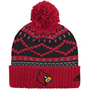 adidas Men's Louisville Cardinals Cuffed Pom Knit Hat