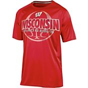 Champion Men's Wisconsin Badgers Red Impact Basketball T-Shirt
