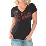 G-III For Her Women's DC United Homefield Black Slub T-Shirt