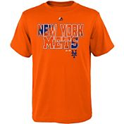 Majestic Youth New York Mets Spark Orange T-Shirt