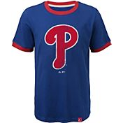 Majestic Youth Philadelphia Phillies Ringer Royal T-Shirt