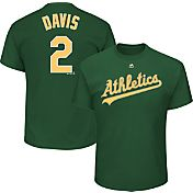 Majestic Youth Oakland Athletics Khris Davis #2 Green T-Shirt