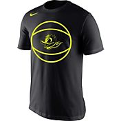 Nike Men's Oregon Ducks Disruption Basketball Legend Black T-Shirt