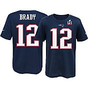 Nike Youth Super Bowl LI Bound New England Patriots Tom Brady #12 Player T-Shirt