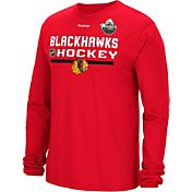 Reebok Men's Chicago Blackhawks Red Long Sleeve T-Shirt