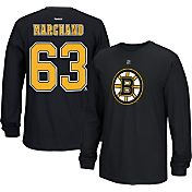 Reebok Men's Boston Bruins Brad Marchand #63 Long Sleeve Player Black Long Sleeve T-Shirt